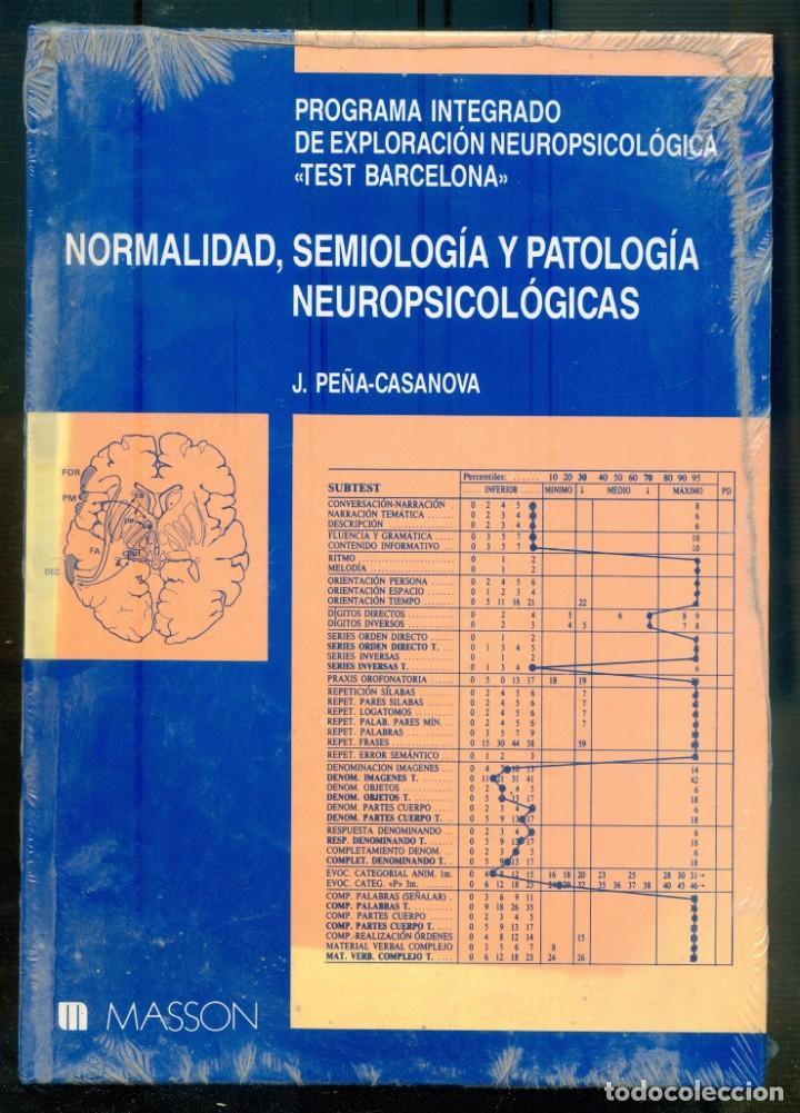 NUMULITE L1619 NORMALIDAD SIMOLOGÍA Y PATOLOGÍA NEUROPSICOLÓGICAS TEST BARCELONA MASSON (NUEVO) (Libros de Segunda Mano - Pensamiento - Otros)