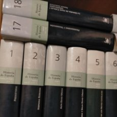 Libros de segunda mano: HISTORIA DE ESPAÑA BIBLIOTECA EL MUNDO EDIT. ESPASA CALPE AUSTRAL 20 TOMOS COMPLETA. Lote 217552538