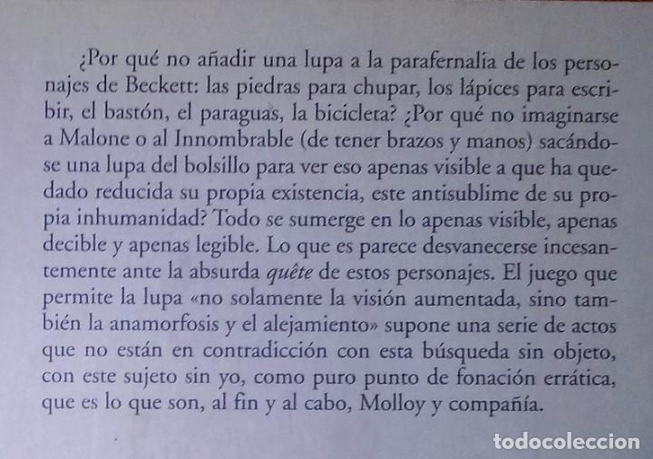 Libros de segunda mano: JORDI IBÁÑEZ FANÉS - LA LUPA DE BECKETT - ANTONIO MACHADO LIBROS, 2004 - Foto 2 - 217571230