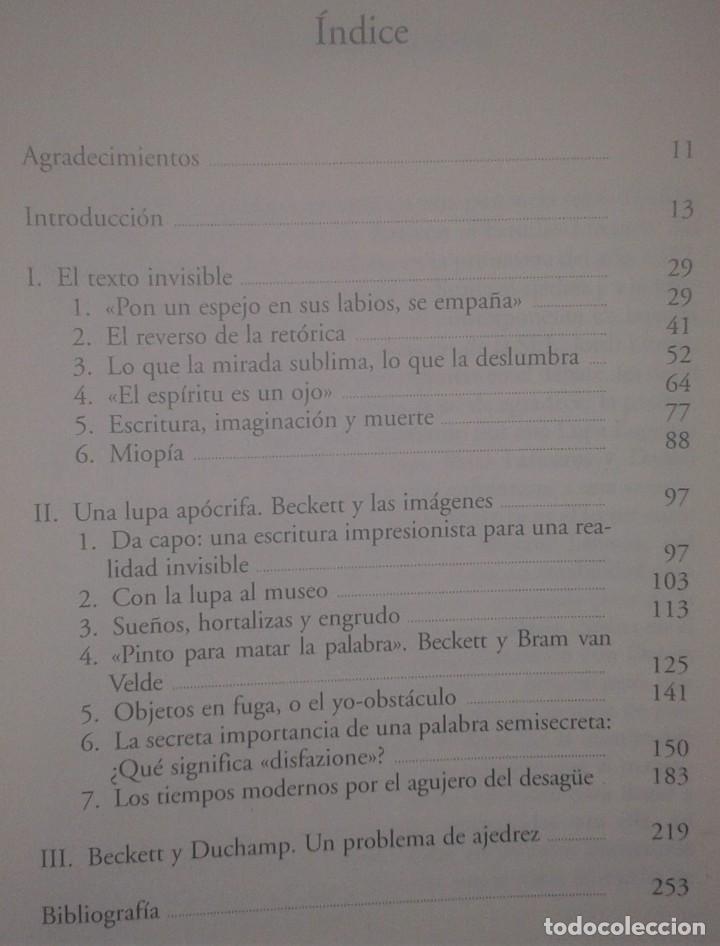 Libros de segunda mano: JORDI IBÁÑEZ FANÉS - LA LUPA DE BECKETT - ANTONIO MACHADO LIBROS, 2004 - Foto 3 - 217571230
