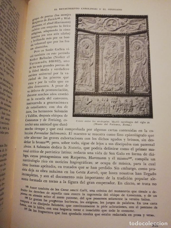 Libros de segunda mano: HISTORIA UNIVERSAL LITERATURA. TOMO III (PRAMPOLINI) LITERATURAS CRISTIANAS OCCIDENTALES, ... - Foto 8 - 217616867