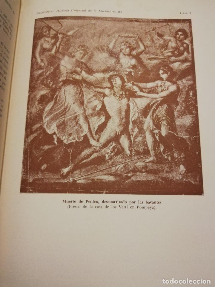 Libros de segunda mano: HISTORIA UNIVERSAL LITERATURA. TOMO III (PRAMPOLINI) LITERATURAS CRISTIANAS OCCIDENTALES, ... - Foto 15 - 217616867