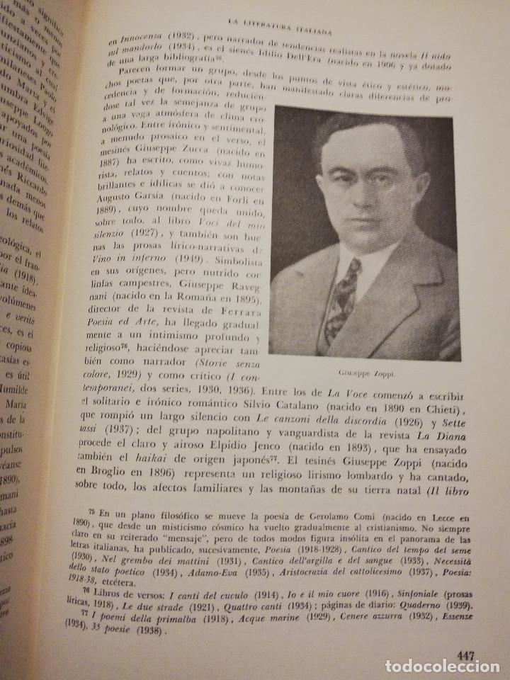 Libros de segunda mano: HISTORIA UNIVERSAL LITERATURA. TOMO X (PRAMPOLINI) FRANCIA, ALEMANIA E ITALIA EN NUESTRO SIGLO - Foto 5 - 217617045