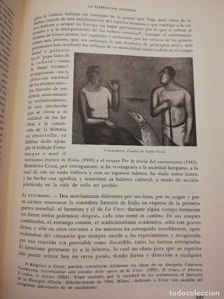 Libros de segunda mano: HISTORIA UNIVERSAL LITERATURA. TOMO X (PRAMPOLINI) FRANCIA, ALEMANIA E ITALIA EN NUESTRO SIGLO - Foto 6 - 217617045