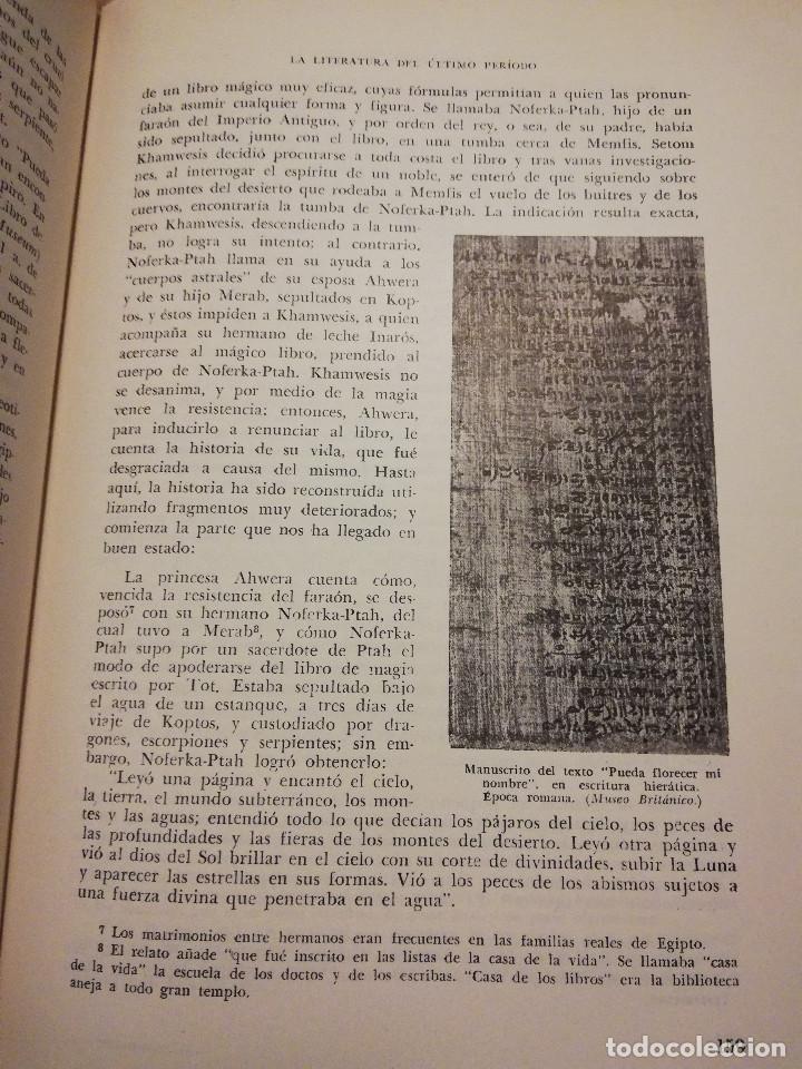 Libros de segunda mano: HISTORIA UNIVERSAL LITERATURA. TOMO II (PRAMPOLINI) LITERATURAS IRANIAS, TURCOTÁRTARAS, EGIPCIA, ... - Foto 9 - 217617532