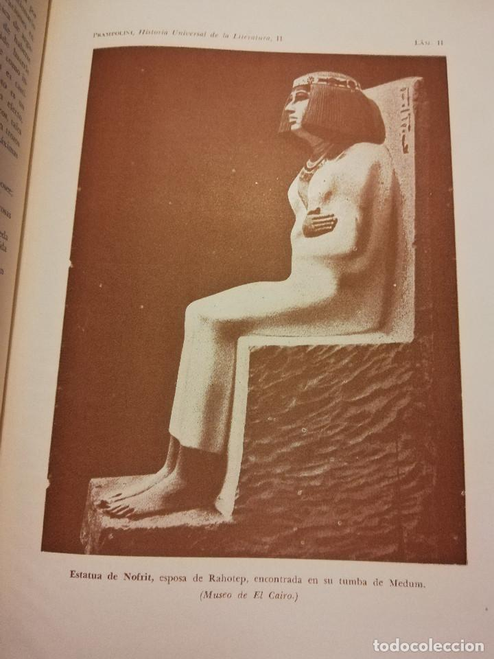 Libros de segunda mano: HISTORIA UNIVERSAL LITERATURA. TOMO II (PRAMPOLINI) LITERATURAS IRANIAS, TURCOTÁRTARAS, EGIPCIA, ... - Foto 11 - 217617532