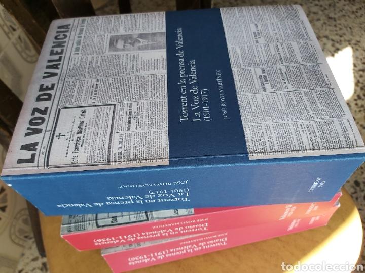 Libros de segunda mano: TORRENT EN LA PRENSA DE VALENCIA. 3 TOMOS. DIARIO DE VAL. TOMO I y II. LA VOZ DE VAL.1 TOMO. Ed 2006 - Foto 2 - 217884298
