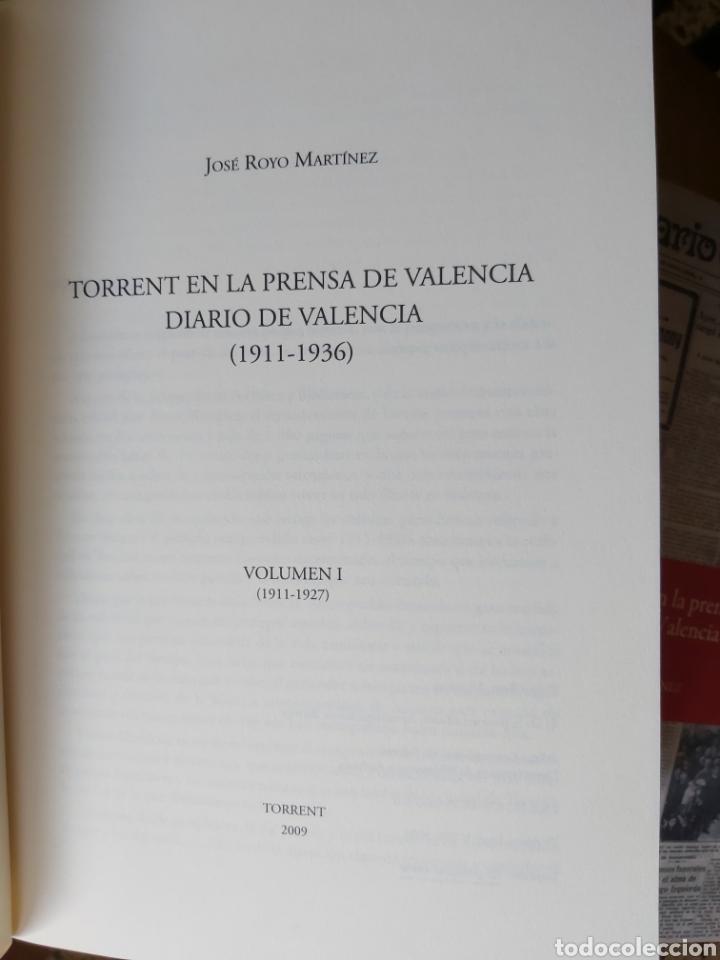 Libros de segunda mano: TORRENT EN LA PRENSA DE VALENCIA. 3 TOMOS. DIARIO DE VAL. TOMO I y II. LA VOZ DE VAL.1 TOMO. Ed 2006 - Foto 5 - 217884298