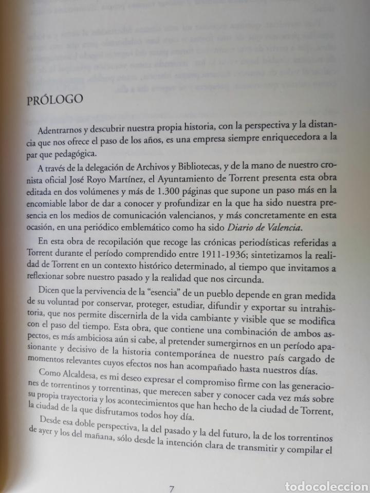 Libros de segunda mano: TORRENT EN LA PRENSA DE VALENCIA. 3 TOMOS. DIARIO DE VAL. TOMO I y II. LA VOZ DE VAL.1 TOMO. Ed 2006 - Foto 7 - 217884298