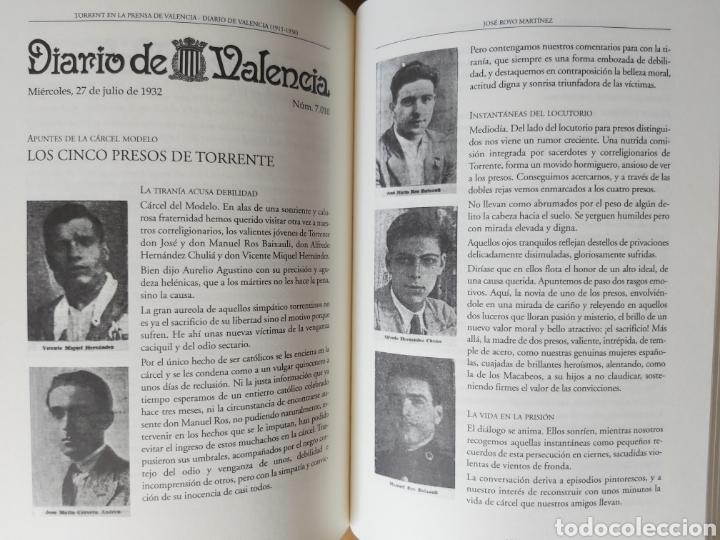 Libros de segunda mano: TORRENT EN LA PRENSA DE VALENCIA. 3 TOMOS. DIARIO DE VAL. TOMO I y II. LA VOZ DE VAL.1 TOMO. Ed 2006 - Foto 13 - 217884298