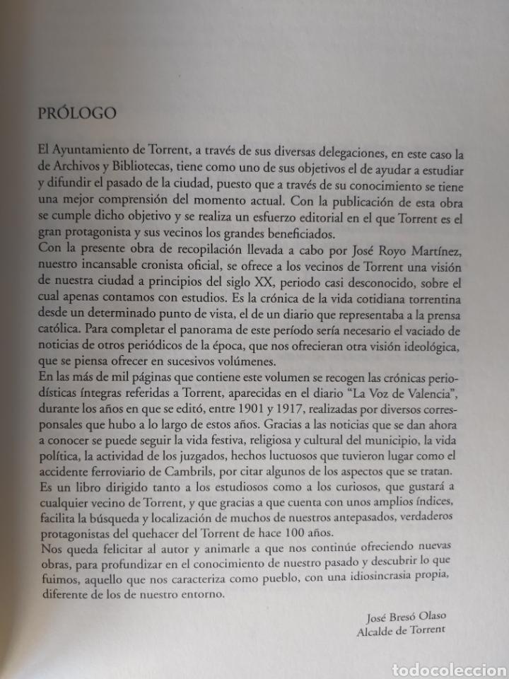 Libros de segunda mano: TORRENT EN LA PRENSA DE VALENCIA. 3 TOMOS. DIARIO DE VAL. TOMO I y II. LA VOZ DE VAL.1 TOMO. Ed 2006 - Foto 15 - 217884298