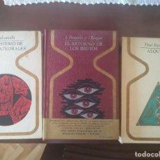 Libros de segunda mano: ALQUIMIA. EL MISTERIO DE LAS CATEDRALES. EL RETORNO DE LOS BRUJOS. Lote 217890615