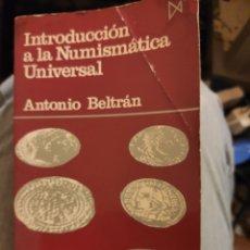 Libros de segunda mano: INTRODUCCIÓN A LA NUMISMÁTICA UNIVERSAL. Lote 218155536