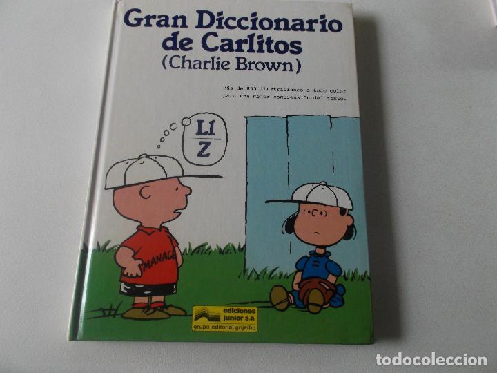 GRAN DICCIONARIO DE CARLITOS (CHARLIE BROWN) LL-Z / ED. JUNIOR - GRIJALBO 1989 (Libros de Segunda Mano - Literatura Infantil y Juvenil - Otros)