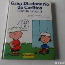 Libros de segunda mano: GRAN DICCIONARIO DE CARLITOS (CHARLIE BROWN) LL-Z / ED. JUNIOR - GRIJALBO 1989. Lote 218192957