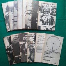 Libros de segunda mano: CRITICA LOTE 14 FILOSOFÍA IDEOLOGIA SEXUALIDAD ESTADO CAPITAL SOCIÓLOGA MARXISMO. Lote 218209678