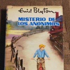 Libros de segunda mano: MISTERIO DE LOS ANONIMOS. ENID BLYTON 1966. Lote 218220641