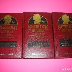 Libros de segunda mano: OBRAS COMPLETAS : SHERLOCK HOLMES - 3 TOMOS - CONAN DOYLE - RAYUELA 1991. Lote 218287983