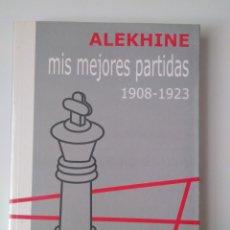 Libros de segunda mano: MIS MEJORES PARTIDAS: 1908 - 1923 / ALEKHINE. MADRID: LA CASA DEL AJEDREZ, 2001.. Lote 218395227