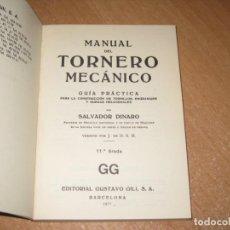 Livros em segunda mão: MANUAL DEL TORNERO MECANICO. Lote 218428926