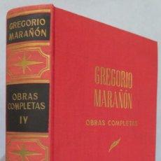 Libros de segunda mano: ARTICULOS Y OTROS TRABAJOS. OBRAS COMPLETAS. MARAÑON. TOMO IV. Lote 218455846