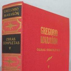 Libros de segunda mano: BIOGRAFIAS I. OBRAS COMPLETAS. MARAÑON. TOMO V. Lote 218455875