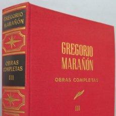 Libros de segunda mano: CONFERENCIAS. OBRAS COMPLETAS. MARAÑON. TOMO III. Lote 218455897