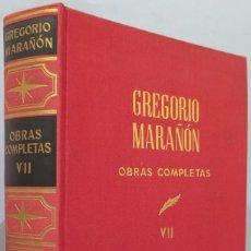 Libros de segunda mano: BIOGRAFIAS III. OBRAS COMPLETAS. MARAÑON. TOMO VII. Lote 218455973