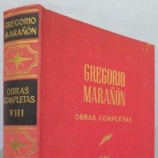 Libros de segunda mano: ENSAYOS. OBRAS COMPLETAS. MARAÑON. TOMO VIII. Lote 218456005