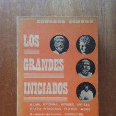 Libros de segunda mano: LOS GRANDES INICIADOS, EDUARDO SCHURE, EDITORES MEXICANOS UNIDOS, 1975. Lote 218433188