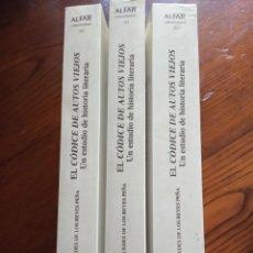 Libros de segunda mano: EL CODICE DE AUTOS VIEJOS .UN ESTUDIO DE HISTORIA LITERARIA-MERCEDES DE LOS REYES PEÑA.3 TOMOS.. Lote 218509968