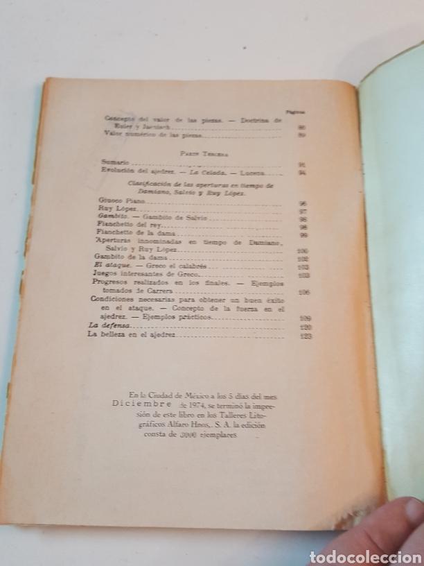 Libros de segunda mano: Curso Ajedrez Enmanuel Lasker Mexico Alfaro Hermanos 1974 de 132 páginas - Foto 6 - 218541315