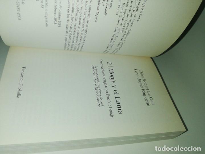 Libros de segunda mano: DOM ROBERT LE GALL. LAMA JIME RINPOCHE. EL MONJE Y EL LAMA. CONVERSACIONES CON FREDERIC LENOIR - Foto 3 - 218648466