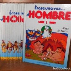 Libros de segunda mano: ERASE UNA VEZ EL HOMBRE. COLECCION COMPLETA. 26 TOMOS. COMO NUEVA.. Lote 218688866