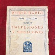 Livres d'occasion: RUBÉN DARÍO IMPRESIONES Y SENSACIONES. Lote 218760888