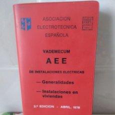 Libros de segunda mano: VADEMECUM DE INSTALACIONES ELÉCTRICAS. Lote 218909586