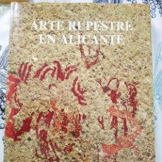 Libros de segunda mano: ARTE RUPESTRE EN ALICANTE MAURO S. HERNANDEZ 1988 CON FOTOGRAFÍAS ILUSTRACIONES MAPAS... PASTA DURA. Lote 218941058
