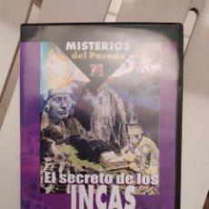 Libros de segunda mano: DVD MISTERIOS DEL PASADO EL SECRETO DE LOS INCAS ENVIO CERTIFICADO INCLUIDO. Lote 218943880