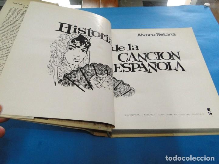 Libros de segunda mano: HISTORIA DE LA CANCIÓN ESPAÑOLA.- ALVARO RETAMA - Foto 4 - 218963087