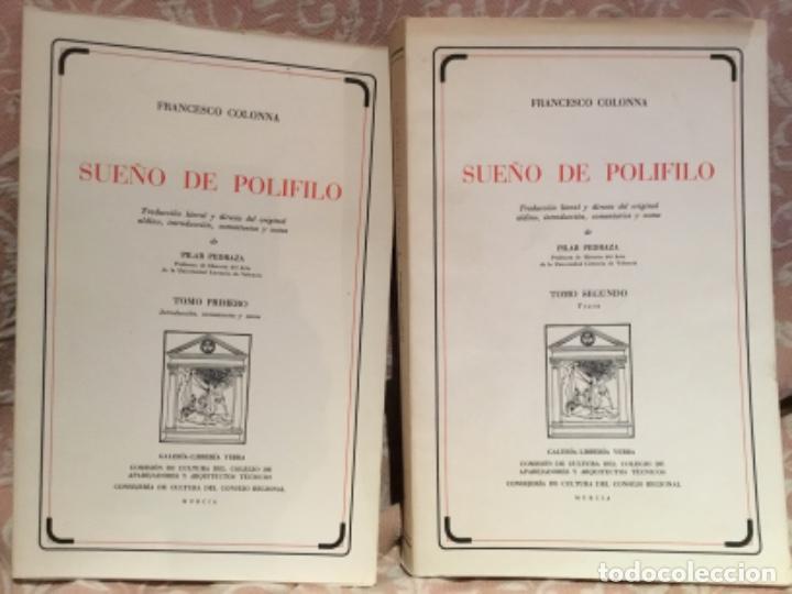 FRANCESCO COLONNA SUEÑO DE POLIFILO TRADUCCIÓN PILAR PEDRAZA MURCIA (Libros de Segunda Mano - Bellas artes, ocio y coleccionismo - Otros)