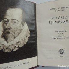 Libros de segunda mano: COLECCIÓN CRISOL NUMERO 7 NOVELAS EJEMPLARES POR MIGUEL DE CERVANTES EDICION AGUILAR. Lote 219103846