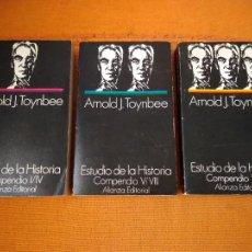 Livres d'occasion: ESTUDIO DE LA HISTORIA (3 TOMOS) COMPENDIO I/IV- V/VIII -IX/XIII. ARNOLD J. TOYNBEE. ALIANZA, 1970.. Lote 219209305