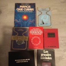 Libros de segunda mano: LOTE DE 7 LIBROS ANTIGUOS ISOTERICOS. Lote 219260157