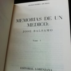 Libros de segunda mano: MEMORIAS DE UN MÉDICO, DUMAS DOS TOMOS. Lote 219301395