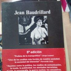 Libros de segunda mano: ESTRATEGIAS FATALES, JEAN BAUDRILLARD, ED. ANAGRAMA. Lote 219373520