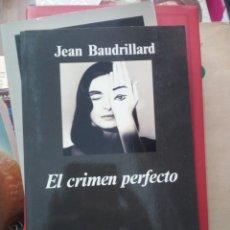 Libros de segunda mano: EL CRIMEN PERFECTO, JEAN BAUDRILLARD, ED. ANAGRAMA. Lote 219375742