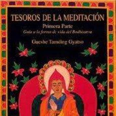 Libros de segunda mano: TESOROS DE LA MEDITACIÓN I GUESHE TAMDING GYATSO. Lote 219446218