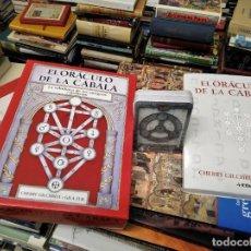 Libros de segunda mano: EL ORÁCULO DE LA CÁBALA . LA SABIDURÍA DE LOS ANTIGUOS CABALISTAS. CAJA + LIBRO + BARAJA 57 CARTAS. Lote 219564546