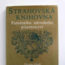 Libros de segunda mano: BIBLIOTECA DE STRAHOV. PRAGA. HISTORIA Y COLECCIONES. PRAVOSLAV KNEIDL Y OTROS. STRAHOVSKA KNIHOVNA. Lote 219893408