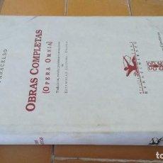 Libros de segunda mano: PARACELSO - OBRAS COMPLETAS - OPERA OMNIA - RENACIMIENTO SEVILLA 1992 Z-¡-004. Lote 219911585